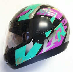 lazer helmet retro cool