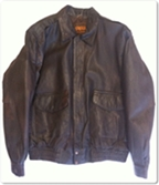brown leather jacket motorcycle prescott